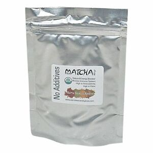 Certified-Organic-Matcha-Green-Tea-Powder-80g-2-8oz-Pure-With-No-Additives