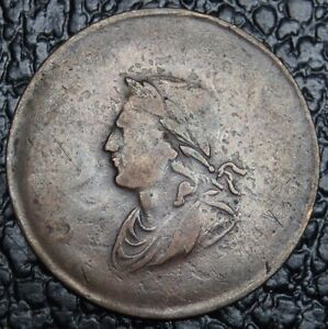 OLD-CANADIAN-COIN-1834-GEORGE-ORDS-TOKEN-BR61-Irish-Half-Penny-RARE-NCC