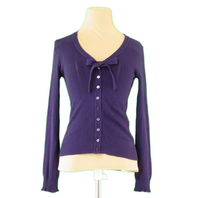 Marc Jacobs Cardigan Purple Woman Authentic Used L2283