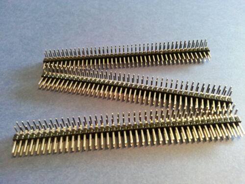 3 Barrettes connexion double 2x40pin coudées Mâle pas 2,54 ARDUINO