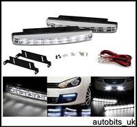 """WHITE LED DRL Fog Running Interior Lights 6.2"""" 12V VW TRANSPORTER T4 T5 CADDY"""