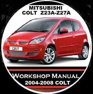 mitsubishi colt z2 z23a z27a es ls vrx ralliart 2004 2008 workshop rh ebay com au Janta Auto Mitsubishi Colt 2005 Mitsubishi Colt Plus 2011