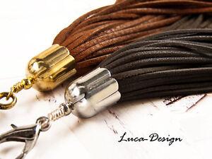 Lederquaste Basic 1 G/s Quaste Leder Tassel Troddel Bommel Windhundhalsband
