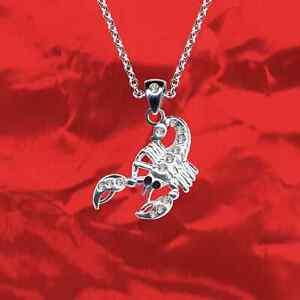 NEU-Dekorativer-Skorpion-Anhaenger-Kette-925-Sterling-Silber-Zirkonia-Kristall