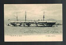1910 Mint RPPC Postcard Warship British England Navy HMS Jamar in Hongkong Bay