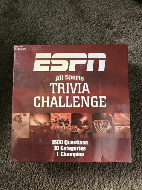 Espn All Sports Trivia Challenge 1500 Questions 10 Categories Age 13 Game Euc For Sale Online Ebay