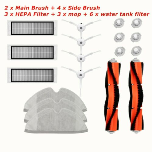 For Xiaomi Roborock Robot S50 S51 Vacuum Cleaner Part Filter Main Side Brush Mop