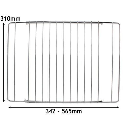 Réglable Chrome Four Grill étagère rack pour flèche Cuisinière 345-565 mm