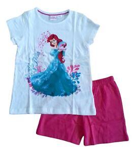 780b9d8b60 Girls Pyjamas Pajamas Pjs Pj Set Short Sleeve DISNEY PRINCESS LITTLE ...