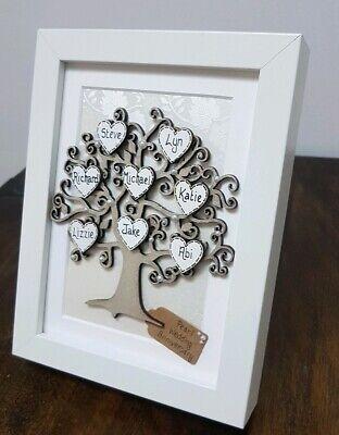 30th Wedding Anniversary Gift.30th Wedding Anniversary Gift Personalised Family Tree Frame Pearl Thirty Ebay
