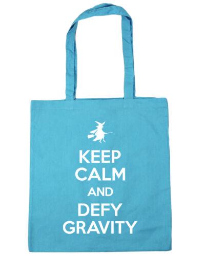 10 litres Keep Calm and Defy Gravity Tote Shopping Gym Beach Bag 42cm x38cm