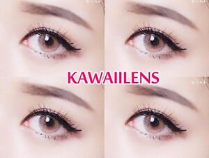 Contact-Lenses-Color-Soft-Big-Eye-UV-Protection-Cosmetic-Lens-je-t-039-aime-Pink