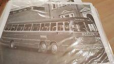 Barton Bus at Park Row Nottingham Black & White Photo ebay uk