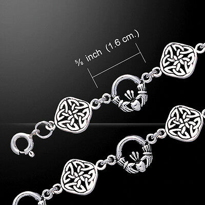 Celtic Knotwork Link sterling silver Bracelet by peter stone Unique Jewelry