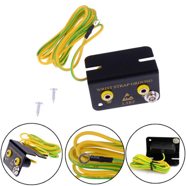 ESD Ground Socket Dual Banana Plug for Anti Static Wrist Strap Armband