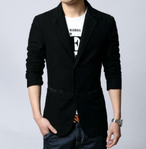 para informal Blazer Traje Cotton100 con Coreano Tamaño estilo Fit Chaqueta hombre Chaqueta Slim twcT6Oqw