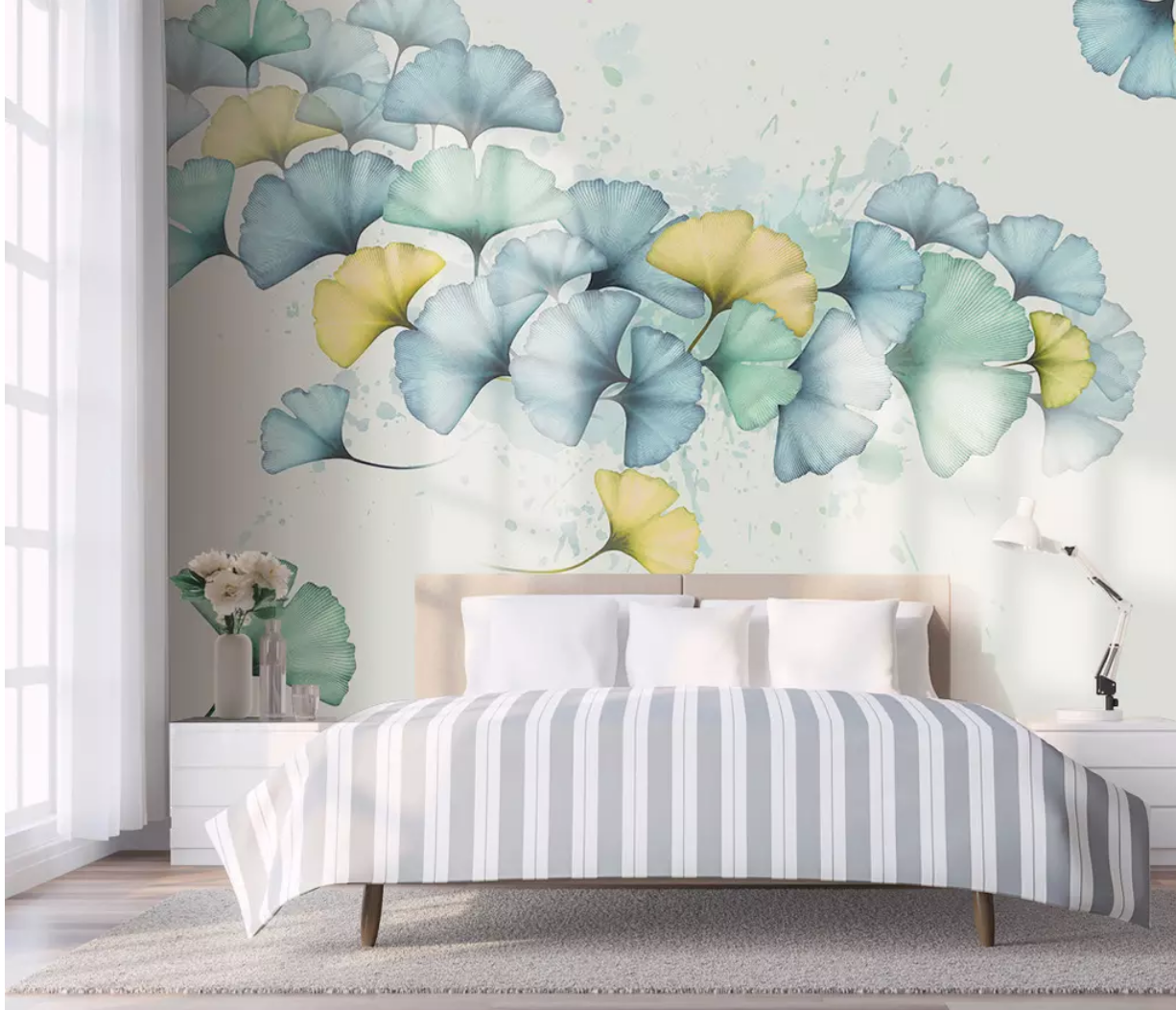 3D Beautiful Leaves I2281 Wallpaper Mural Sefl-adhesive Removable Sticker Wendy