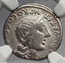 Roman Republic Sulla Time Anna Perenna Dido Sistr Silver Ancient Coin NGC i59895