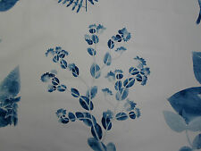 Designers Guild Fabric~'Jindai' 3.35 METRES Indigo 100% Cotton~ Kaori Collection