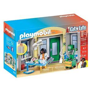 Playmobil Hospital Play Box Building Set 9110 New Toys Kids 4008789091109 Ebay