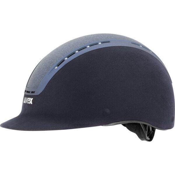 Uvex helmet suxxeed glamour blu Swarovski® crystal blu suede Glitter insert