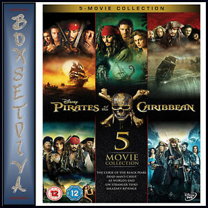 Pirates Of The Caribbean 5 Movie Collection Brand New Dvd
