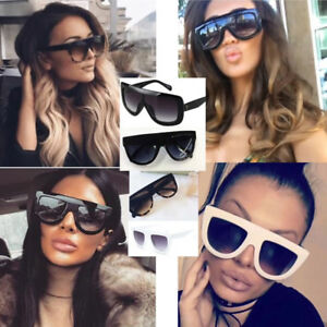 bae8c66d868a Image is loading Womens-Designer-Inspired-Shadow-Shield-Chunky-Top- Sunglasses-