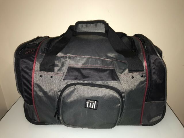 Ful Flx Hybrid Rolling Duffle Bag 21 Black Suit Case Luggage Wheel