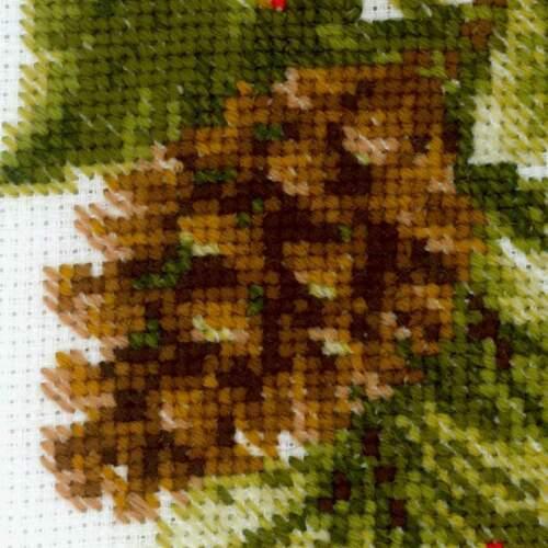 Counted Cross Stitch Kit Riolis-Poinsettia