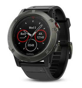 Man-Garmin-Watch-Fenix-5X-Black-Gray-Sapphire-Band-010-01733-01-GPS-Woman-maps