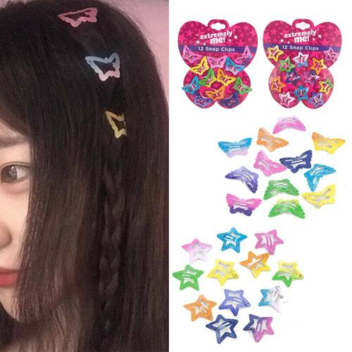 12PCS Cute Girls/' BB Clip Kids Barrettes Candy Color Hair Clips Accessories Gift