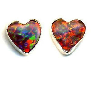 Image Is Loading Heart Amp Love Red Sparkly Fire Opal Stone