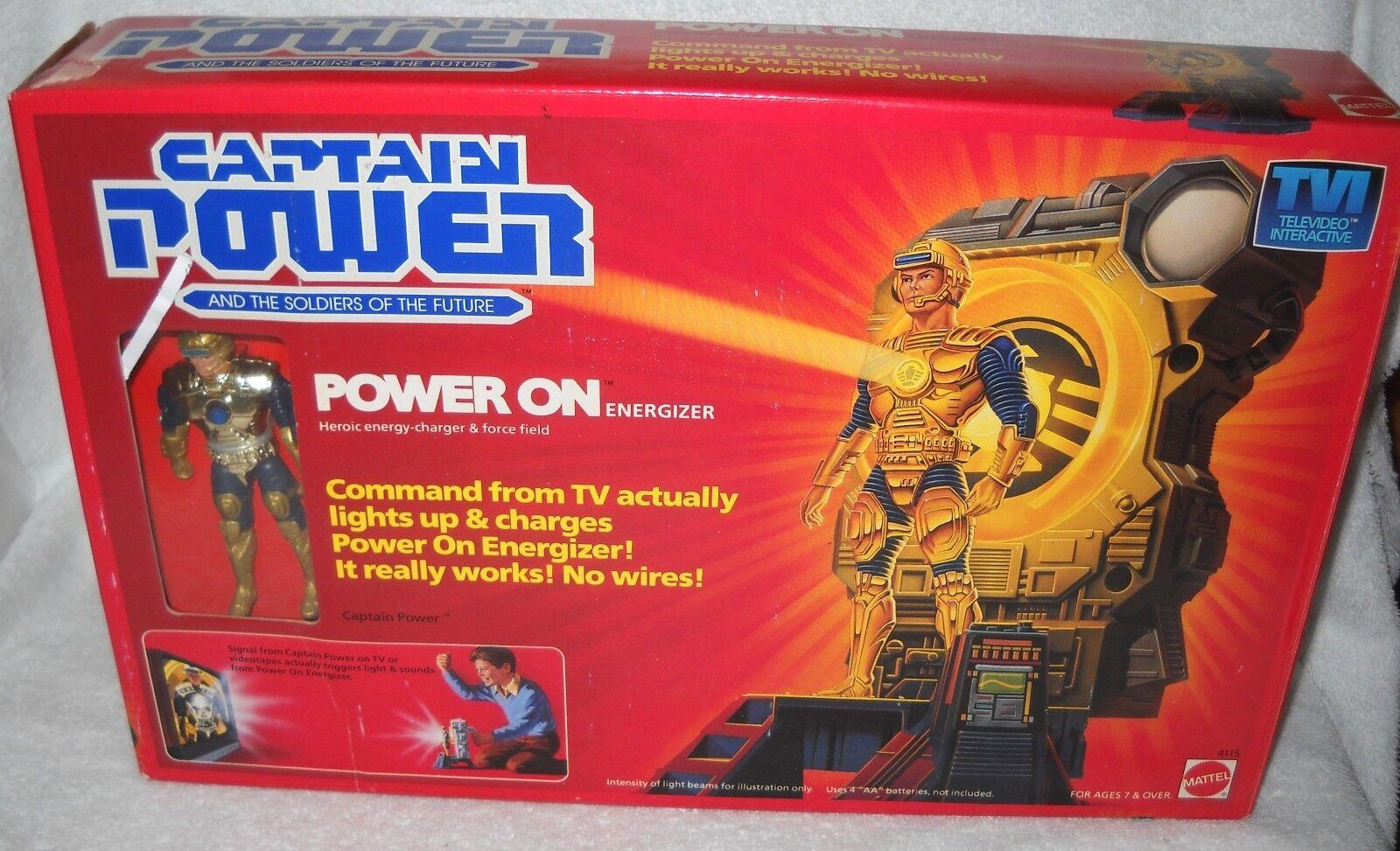 NRFB Vintage Mattel Captain Power Power On Energizer & Figure
