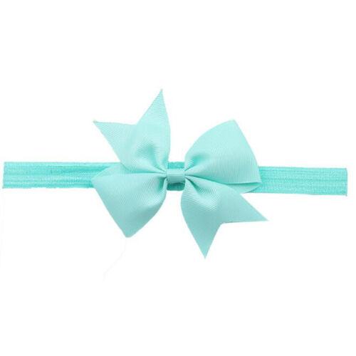 Newborn Baby Girl Toddler Kids Hair Bow Hair Band Headband Grosgrain Ribbon New