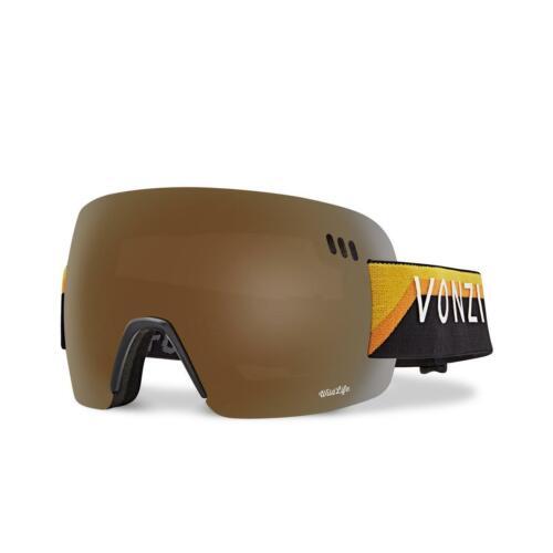 Black Vonzipper ALT Yellow Gloss Wild Bronze Flash Chrome XM Goggles 20th
