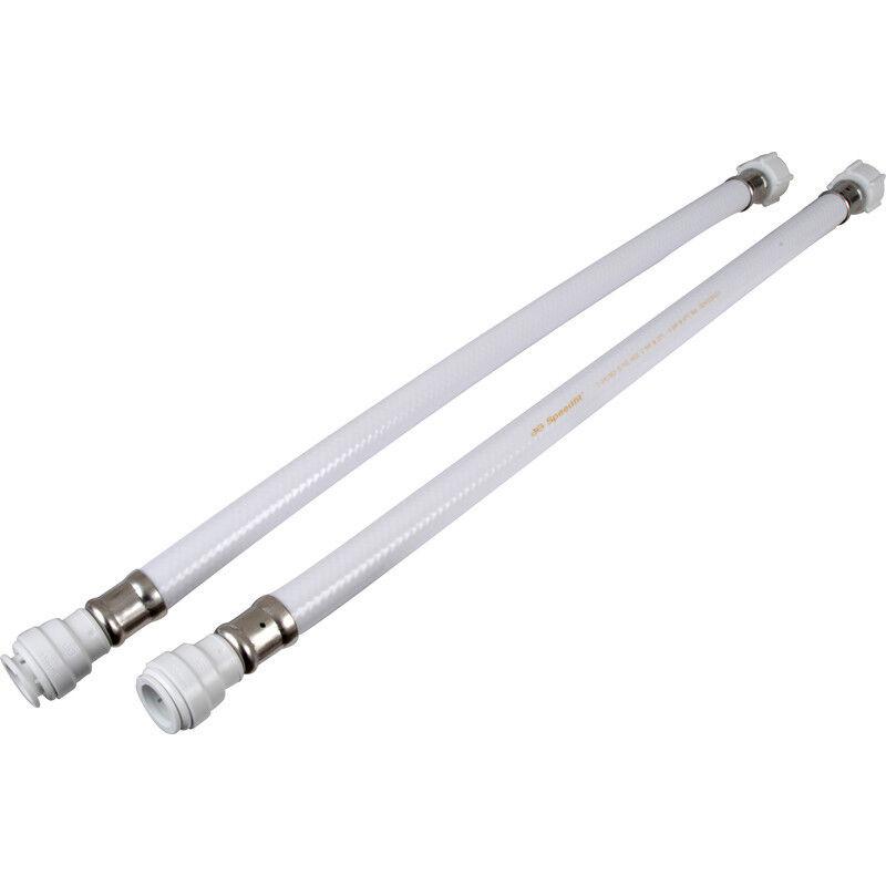 2 X JG Speedfit Union Nut Tap Connector 15mm x 1 2  BSP 500mm, plumbing