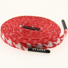 $12 Starks Laces - Houndstooth Red Shoelaces shoestrings 0008-54Inch-1S