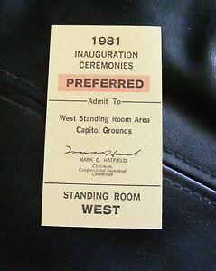 ORIGINAL-Preferred-Status-Ticket-to-1981-RONALD-REAGAN-INAUGURATION-CEREMONIES