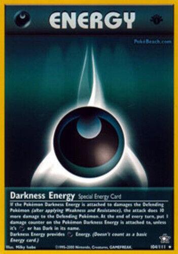 Rare Darkness Energy 1x 104//111 1st Edition LP Pokemon Neo Genesis