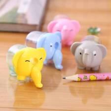2 pcs Kawaii Elephant Hand Pencil Sharpener Child Stationery School Supplies