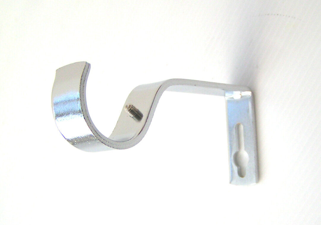 19 Y 28 Mm Cromo barra de cortina de soportes de pared Remates Bay Codo articulaciones holdbacks