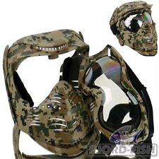Gesichtsschutzmaske Fight digital Woodland Paintball Gotcha Softair Maske
