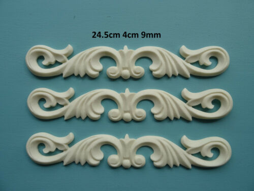 Decorative large acanthus scroll centers x 3 furniture mouldings resin ac3