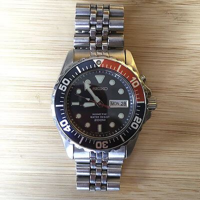 Seiko SMY003P1 5M63 0A10 Pepsi Divers 200m Classic Vintage watch 2001 KINETIC