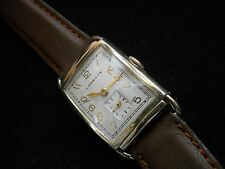 Vintage 14K Yellow Gold Longines Wrist Watch ca 1947