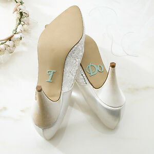 712fb4ce11cf9 Details about WEDDING SHOE STICKERS FOR BRIDE & GROOM!! FREE SHIPPING!!!