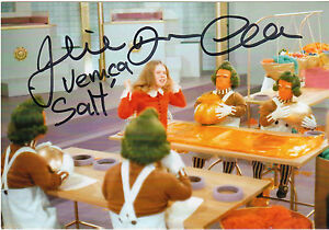 WILLY-WONKA-Chocolate-Factory-signed-6x4-JULIE-DAWN-COLE-as-VERUCA-SALT