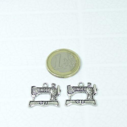32 Pendants Machine Of Sewing 15x13mm T554E Silver Tibetan Pendant Charms