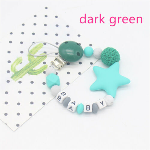 NEW Infant Chew Toy Non-toxic Dummy Clips Baby Teething Pacifier Chain Soother