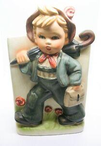 Vintage Napcoware Little Boy Planter Japan Import Umbrella Satchel Spring